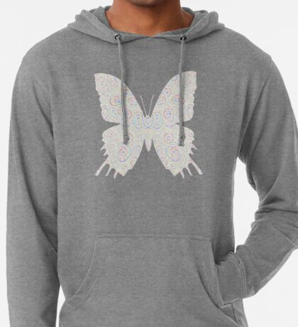 #DeepDream White Butterfly Lightweight Hoodie