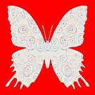 #DeepDream White Butterfly by blackhalt