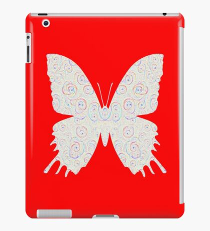 #DeepDream White Butterfly iPad Case/Skin