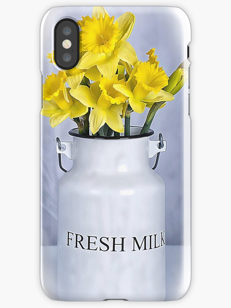Daffodils and Milk Jug by Michael Moriarty