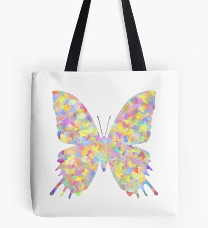 Pastel Motley Butterfly Tote Bag