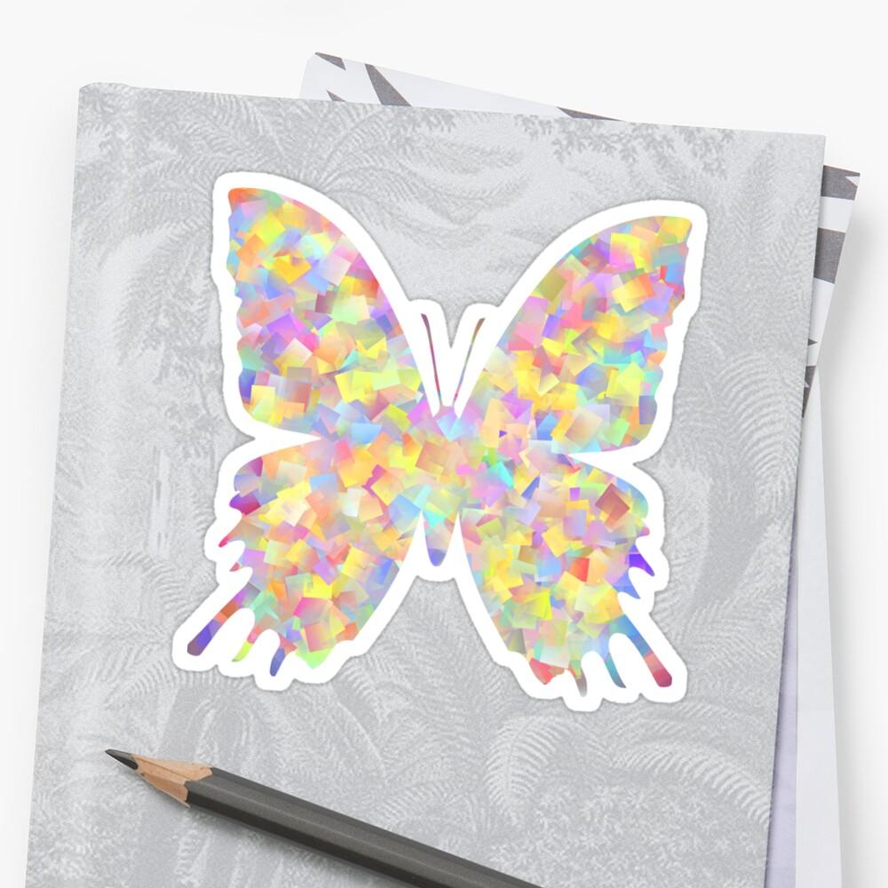 Pastel Motley Butterfly Sticker