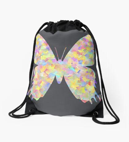 Pastel Motley Butterfly Drawstring Bag
