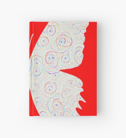 #DeepDream White Butterfly Hardcover Journal