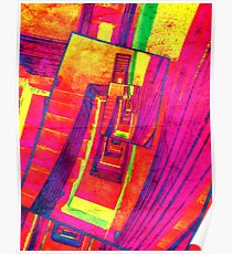 Pop Art Stairwell Abstract Poster