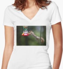 Feet don't fail me now! Red Squirrel Women's Fitted V-Neck T-Shirt