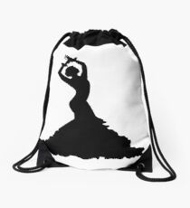 Flamenco woman Drawstring Bag