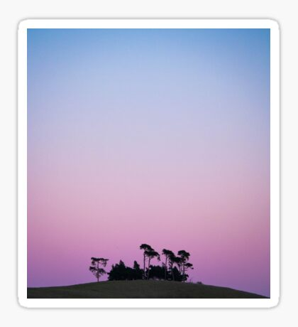 sunset trees Sticker