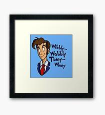 Dr. Seuss of Gallifrey: Wibbly-Wobbly Timey Wimey Framed Print