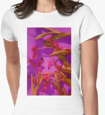 Magenta Tulips Womens Fitted T-Shirt