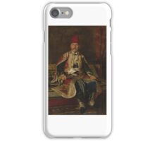Turkish Noble Seated in a Carpeted Interior by Franz Ruben iPhone Case/Skin
