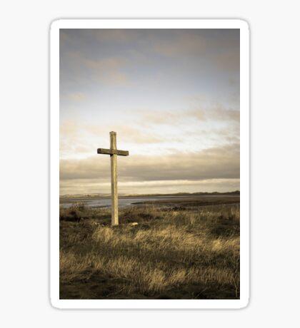 Island cross Sticker