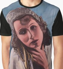 Oil on canvas - Greta Garbo Graphic T-Shirt