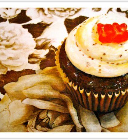 The Cupcake in Sepia Sticker
