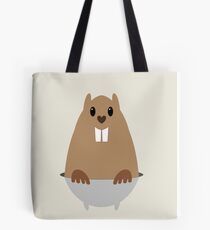 GROUNDHOG & SHADOW Tote Bag