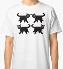 4 Black Cats in Red Collars Classic T-Shirt