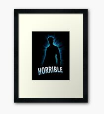 Horrible Shadow Framed Print