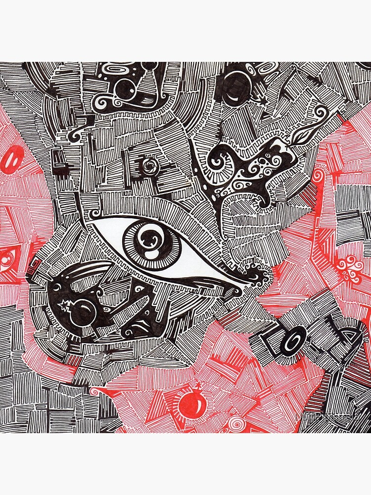 Eye Bomb Candle Abstract Art Drawing Crazy Mind Leinwanddruck
