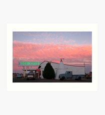 Nostalgic Motel Under Arizona Sunset Art Print