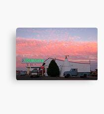 Nostalgic Motel Under Arizona Sunset Canvas Print