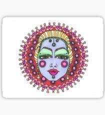 Mandala Face Bejeweled Blond Sticker