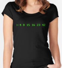 Hurley's Numbers - DOS Font Women's Fitted Scoop T-Shirt