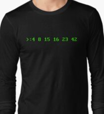 Hurley's Numbers - DOS Font Long Sleeve T-Shirt