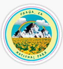 OKAGA NATL' PARK STICKER YELLOW Sticker