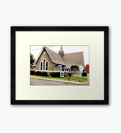 """""""Church Fire Hydrant: Used Only When the Preachin' Gets Too Hot""""... prints and products Framed Print"""