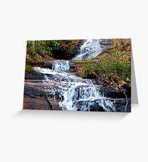 A Bartram Trail Cascading Waterfall Greeting Card