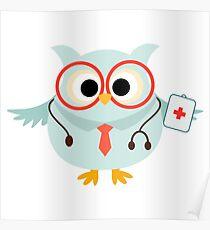 Medical Profession Owl Doctor Poster