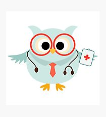 Medical Profession Owl Doctor Photographic Print