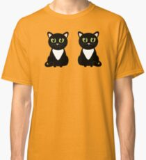 Two Black and White Cats Classic T-Shirt