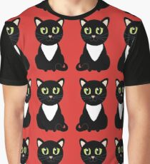 Two Black and White Cats Graphic T-Shirt