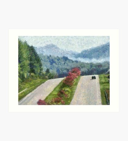 Ride On Into Franklin On The Merle Dryman Parkway Art Print