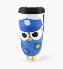 Professions Owl Police Officer Policeman Travel Mug