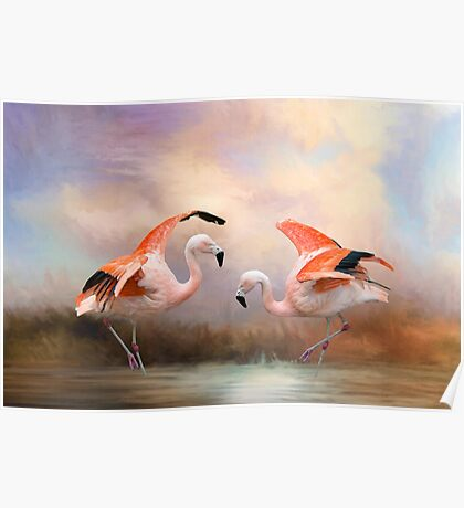 Dance of the Flamingos Poster