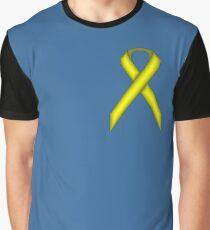 Yellow Standard Ribbon Graphic T-Shirt