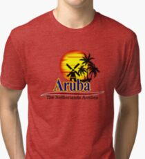 The Netherlands Antilles, Aruba Tri-blend T-Shirt