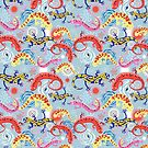 Graphic pattern Beautiful salamander by Tanor
