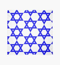Star of David, blue and thick Scarf