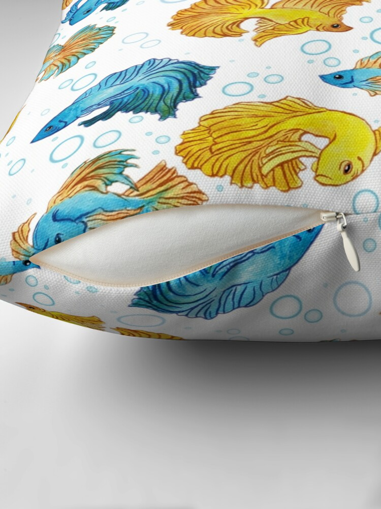 Alternate view of Beta Fish Throw Pillow