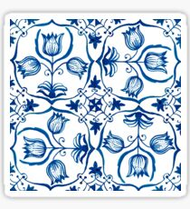 Delft Blue Tulips Sticker