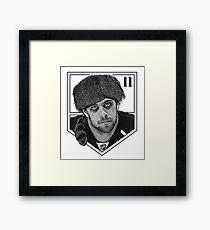 Coonskin Anze Kopitar Tee - LA Kings Framed Print