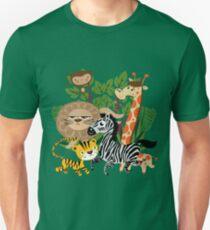 Wild Animals Zoo Animals Giraffe Zebra Lion Unisex T-Shirt