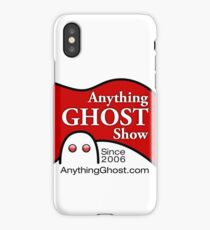Anything Ghost Black and Red Logo iPhone Case/Skin