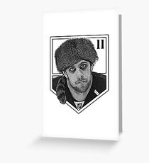 Coonskin Anze Kopitar Tee - LA Kings (two-color design) Greeting Card