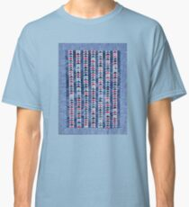 Flying Geese Quilt In Red, White And Blue Classic T-Shirt
