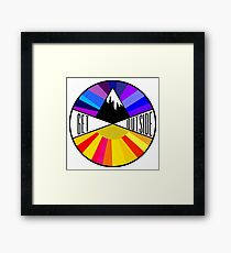 Get Outside | Mountain & Sun Framed Print