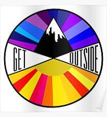 Get Outside | Mountain & Sun Poster